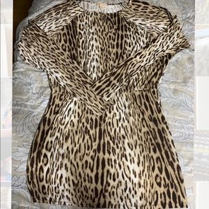 Michael Kors Leopard print stretch dress EUC